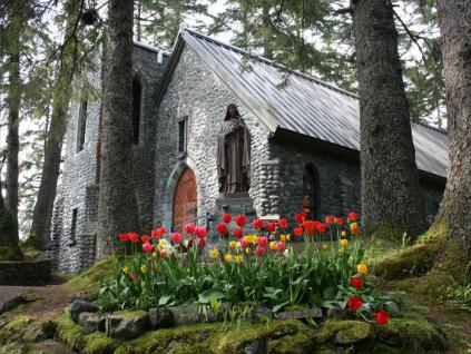 Chapel with Flowers
