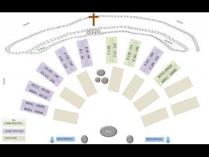 Columbarium layout